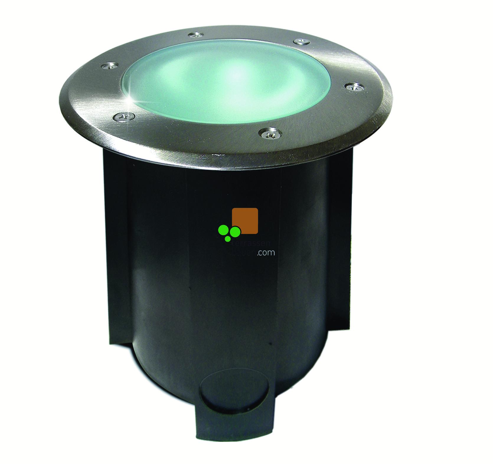EasyConnect Edelstahl LED Bodenleuchte ø 160mm, 10W, 230VAC, 1 Stück