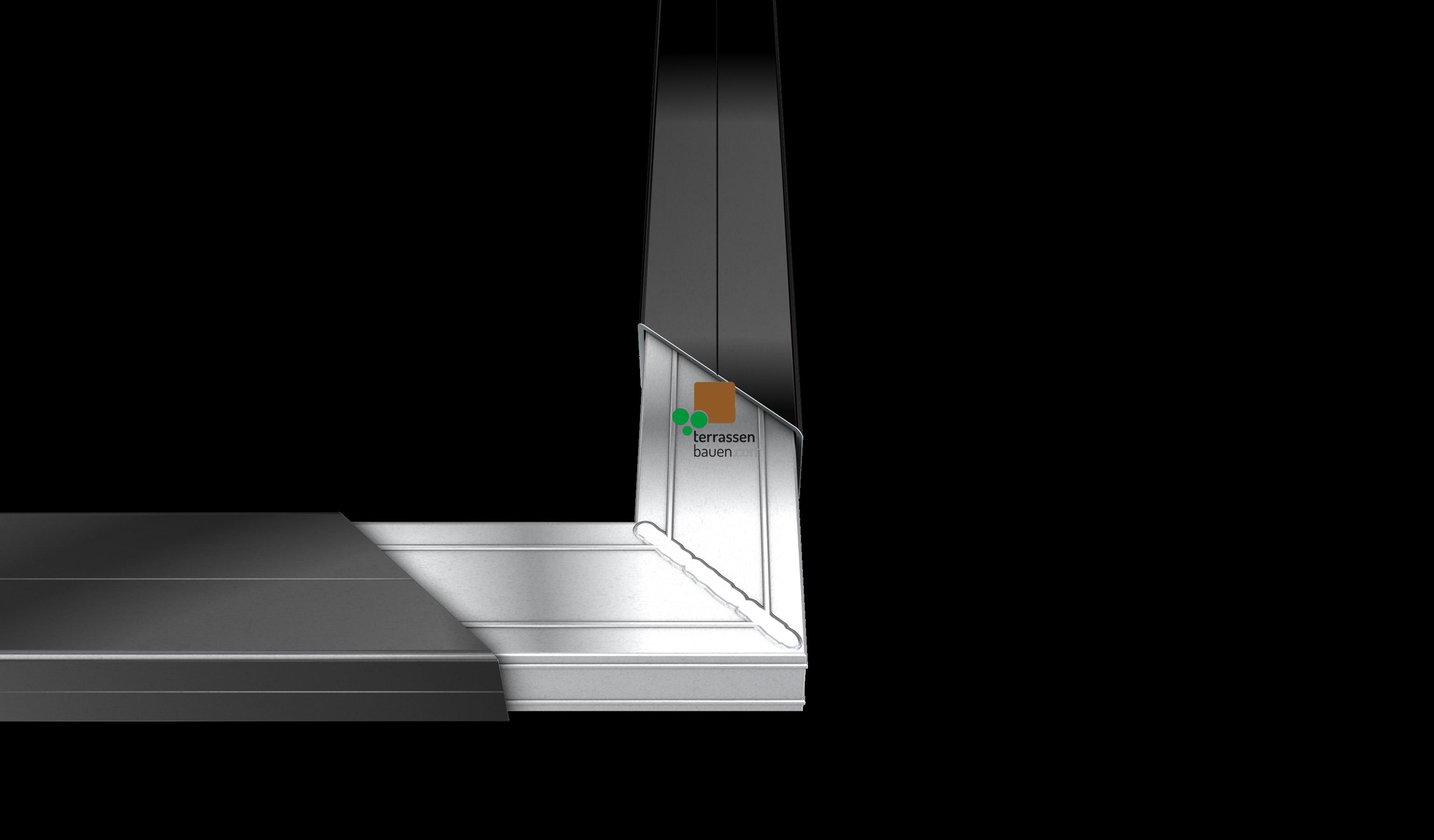 K&R Terracon Eckerverbinder für Alu UK 50x30mm, 196mm Schenkellänge, 2 Stück