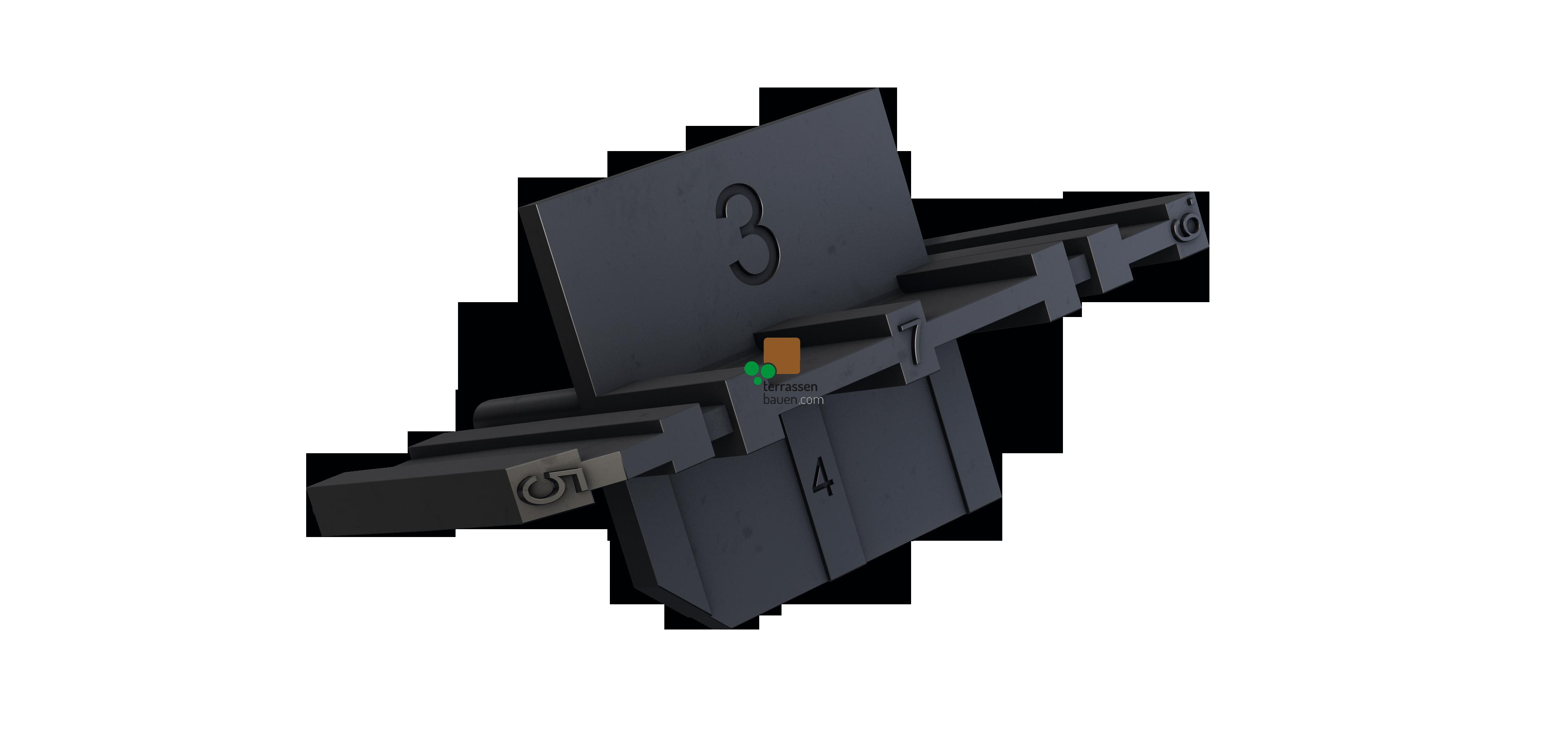 K&R Abstandskreuz 3-8mm, 12 Stück