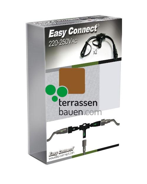 """EasyConnect Anschlussstecker Verteiler """"Flex"""" 1* Eingang 2* Ausgang, 2 Stück"""
