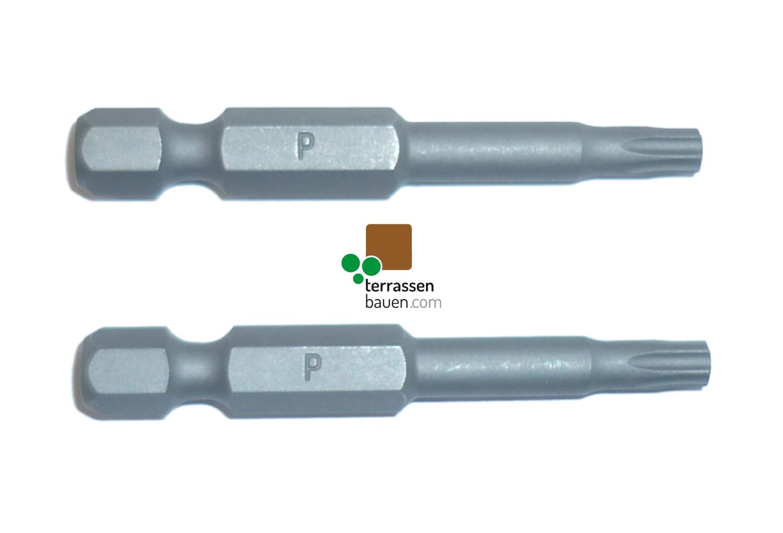 K&R Qualitätsbit Torx TX 25  extra lang für Terraflex, 2 Stück