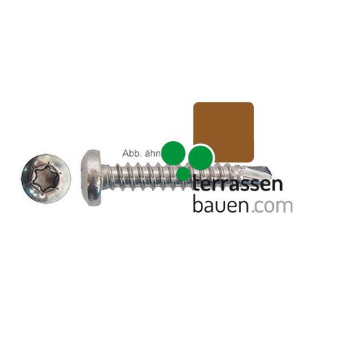 Bohrschraube Edelstahl für Clipper zur Verschraubung auf Isostep 3,9x19mm