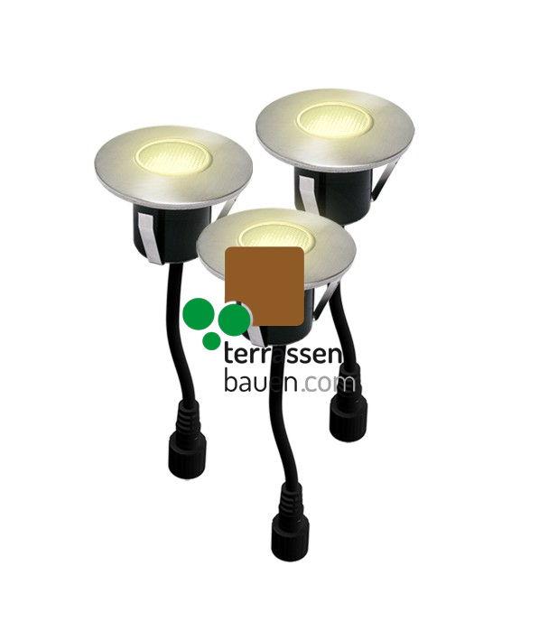 EasyConnect LED Einbauleuchten ø 60mm, 230VAC, 3 Stück, warm-weiss