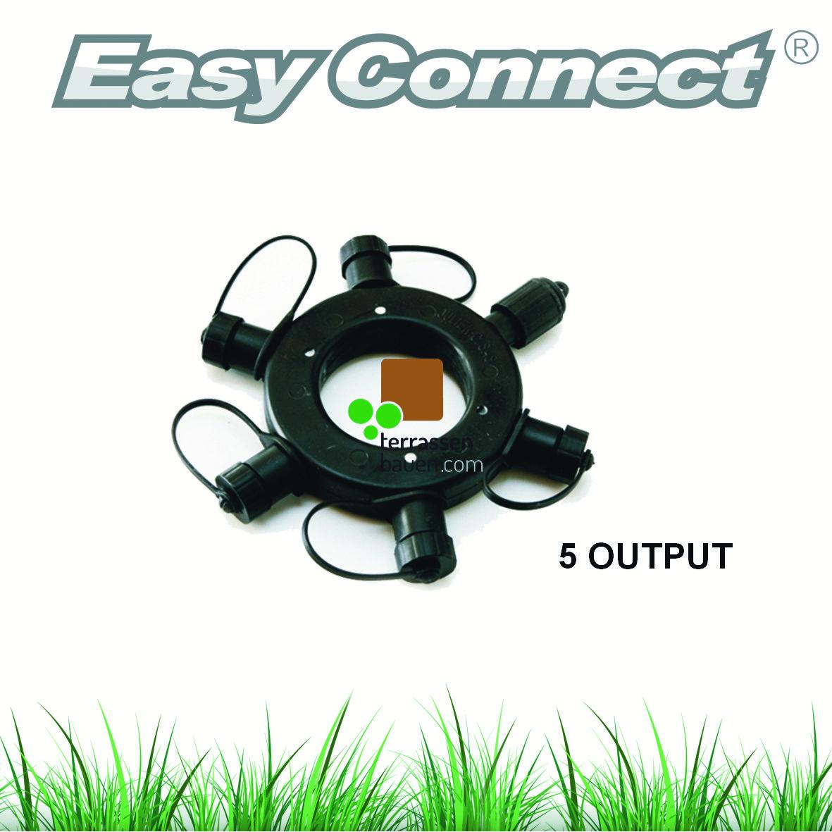 """EasyConnect Anschlussstecker Verteiler """"Ring"""" 1* Eingang 5* Ausgang, 1 Stück"""