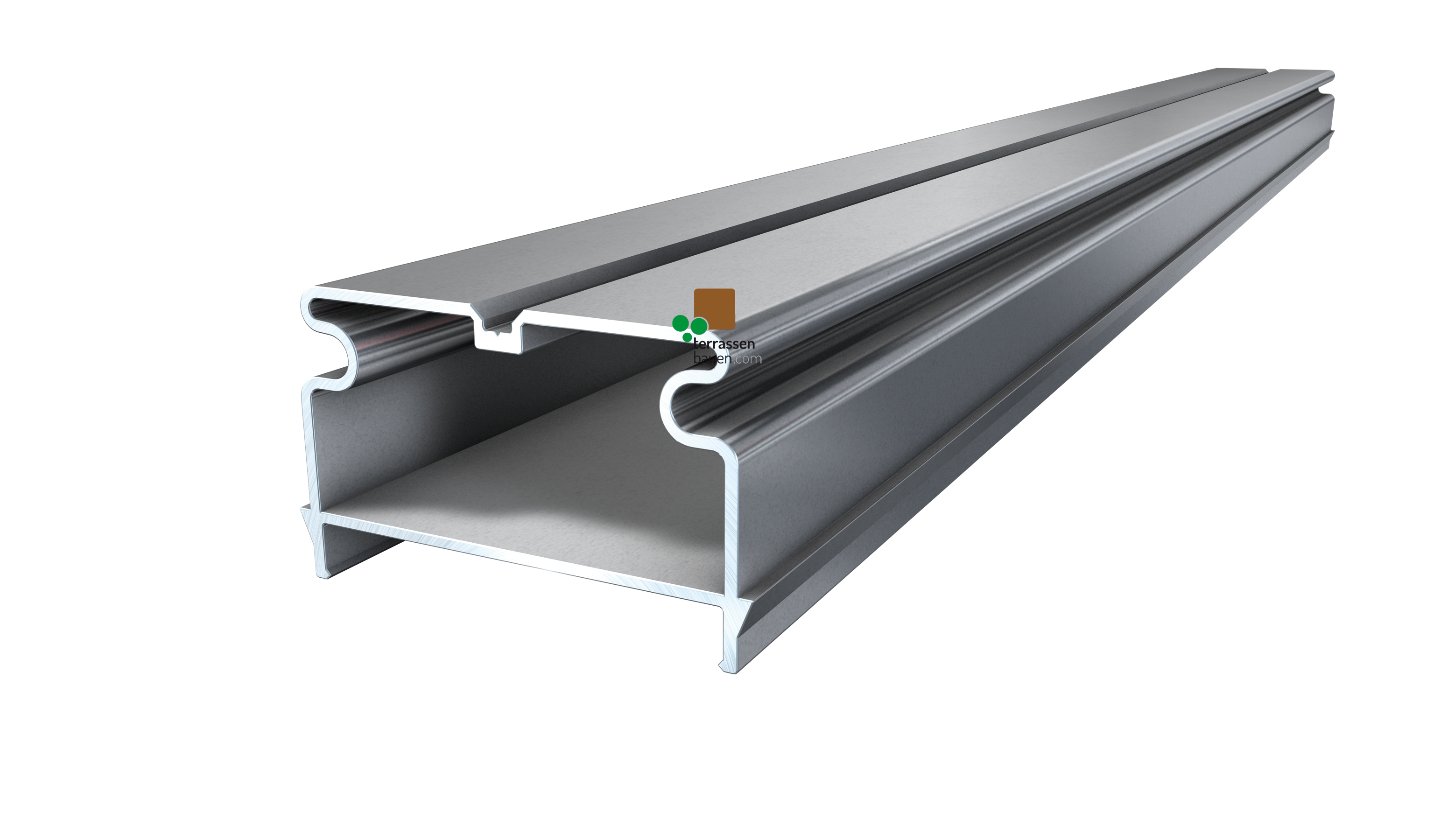 K&R Isostep H Aluminium-Unterkonstruktion, natur, 64x40x3000mm