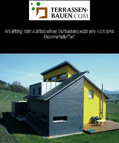 Bauanleitung zum Selbstbau einer Holzterrasse