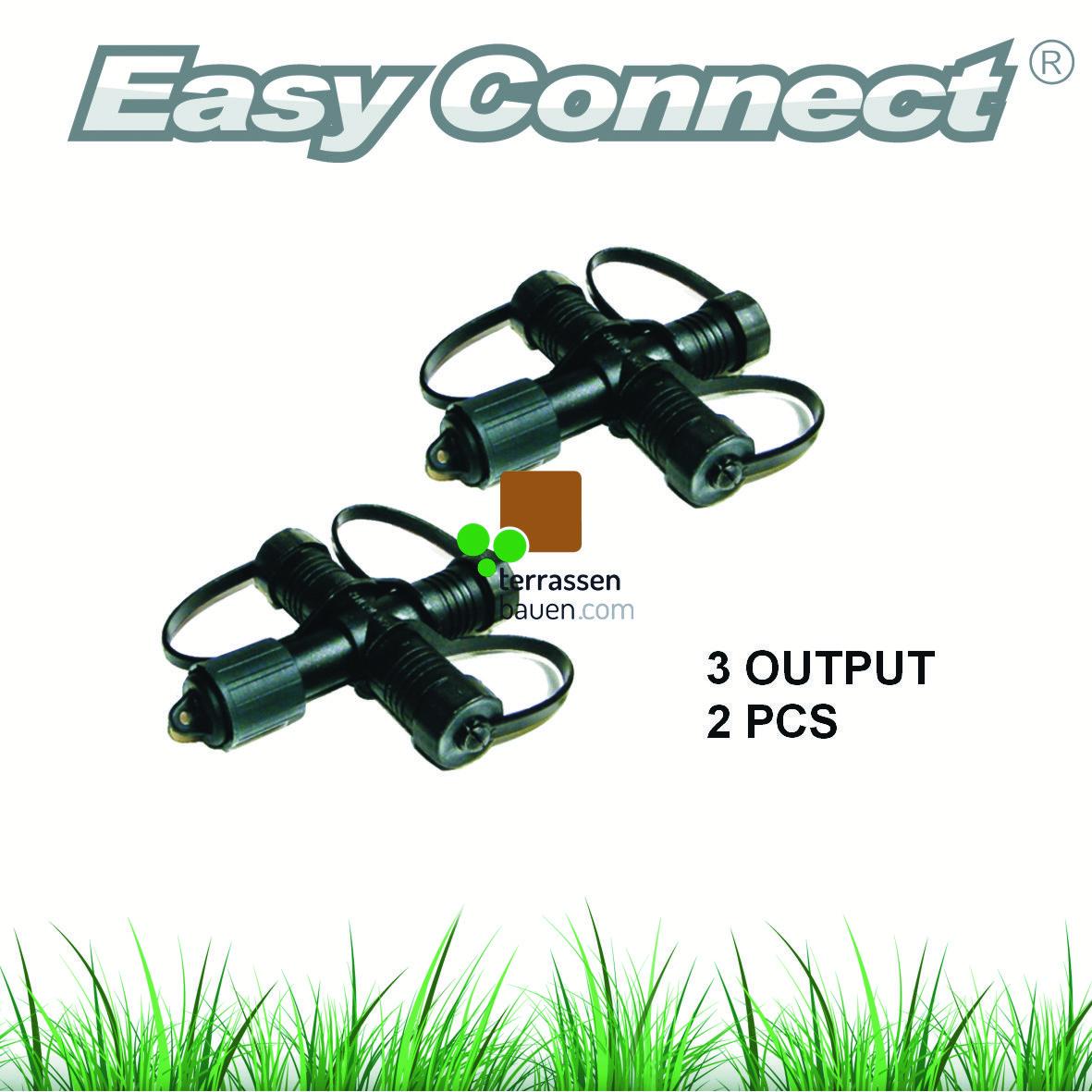 """EasyConnect Anschlussstecker Verteiler """"X"""" 1* Eingang 3* Ausgang, 2 Stück"""