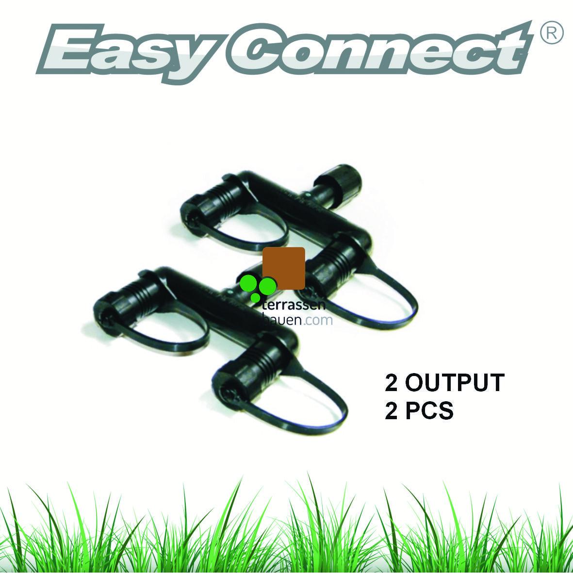 "EasyConnect Anschlussstecker Verteiler ""Y"" 1* Eingang 2* Ausgang, 2 Stück"