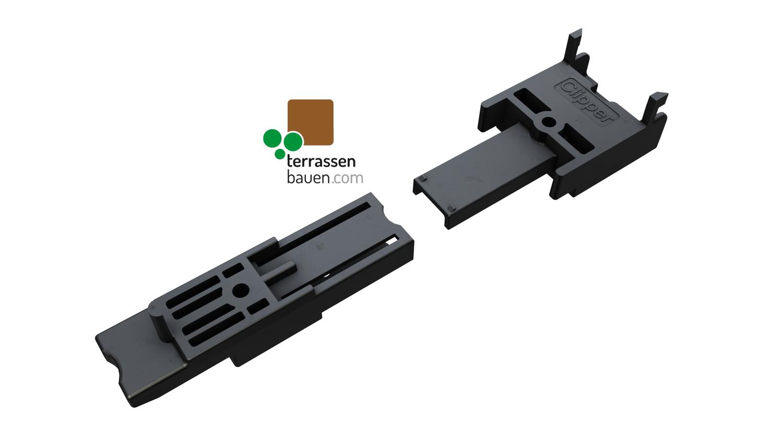 K&R Terracon Clipper für verdeckte Dielenmontage, verschiedene Größen OHNE Schrauben