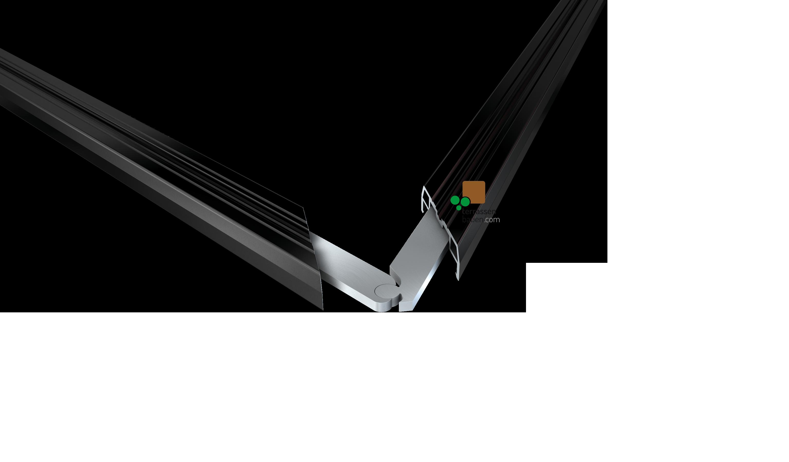 K&R Terracon variabler Eckerverbinder für SMART Isostep, 80mm Schenkellänge, 8 Stück