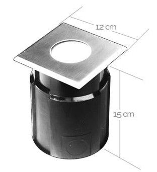 """EasyConnect Edelstahl LED Bodenleuchte """"Square"""" 120x120mm,4W, 230VAC, 1 Stück"""