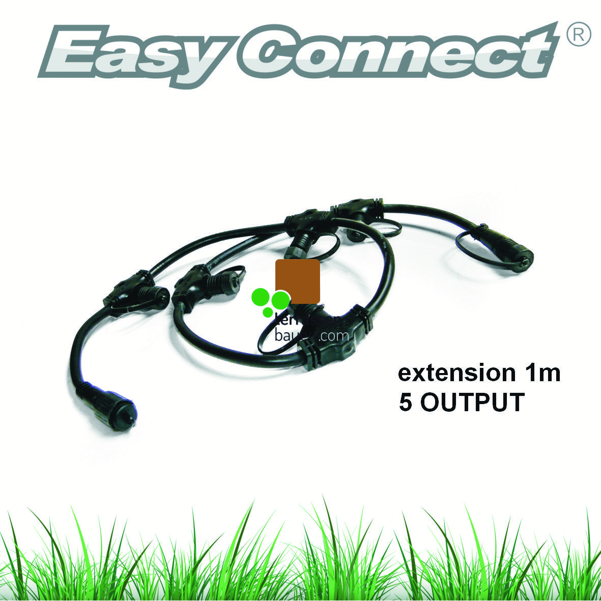 EasyConnect Kabelpeitsche 1* Eingang 5* Ausgang,  1m, 1 Stück