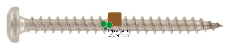 Holzschraube Edelstahl für Clipper und Terrassenlager, 500 Stück, verschiedene Größen