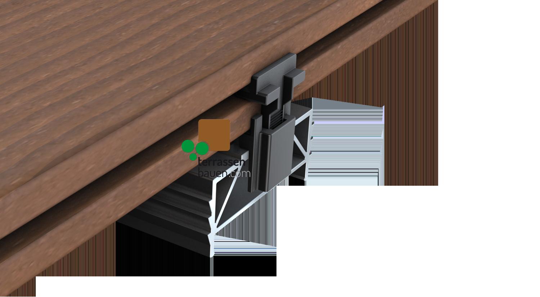 K&R Terrastart mit Edelstahlschraube für Holz- UND Alu-Unterkonstruktion, 20 Stück