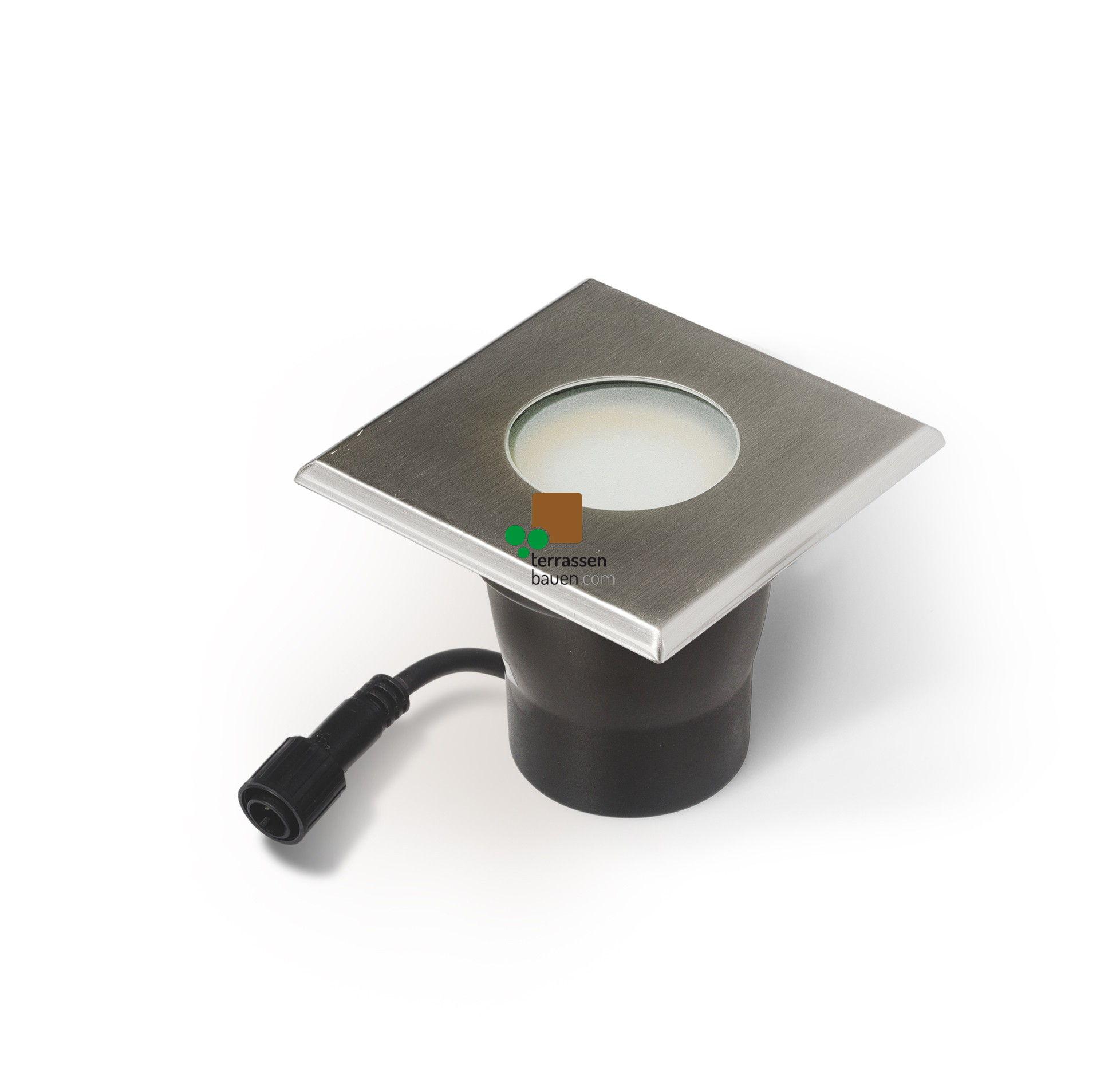 """EasyConnect Edelstahl LED Einbauleuchte """"Square"""" 120x120mm, 230VAC, 1 Stück"""