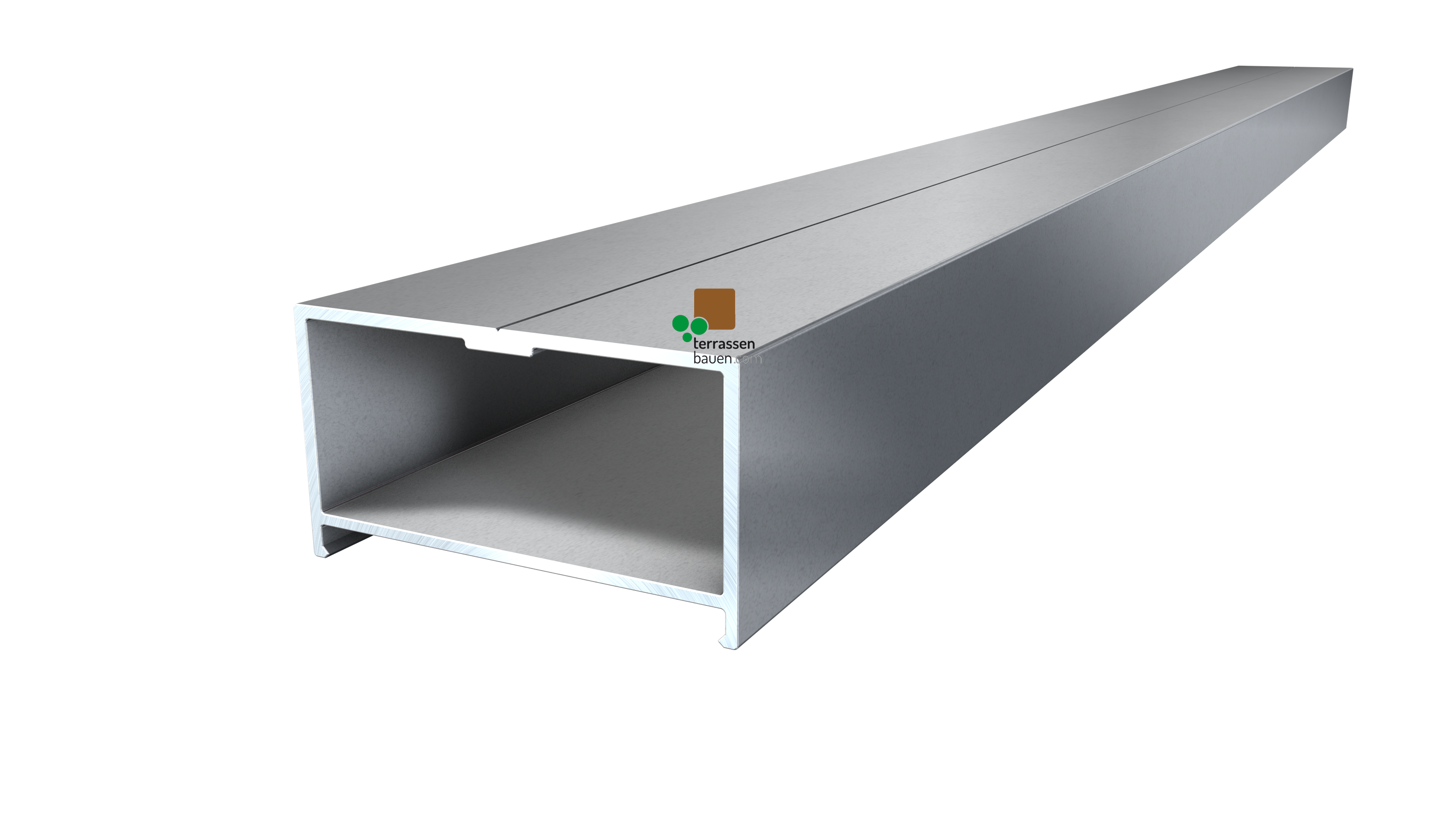 K&R BASE Aluminium-Unterkonstruktion, natur, 64,5x35x4000mm