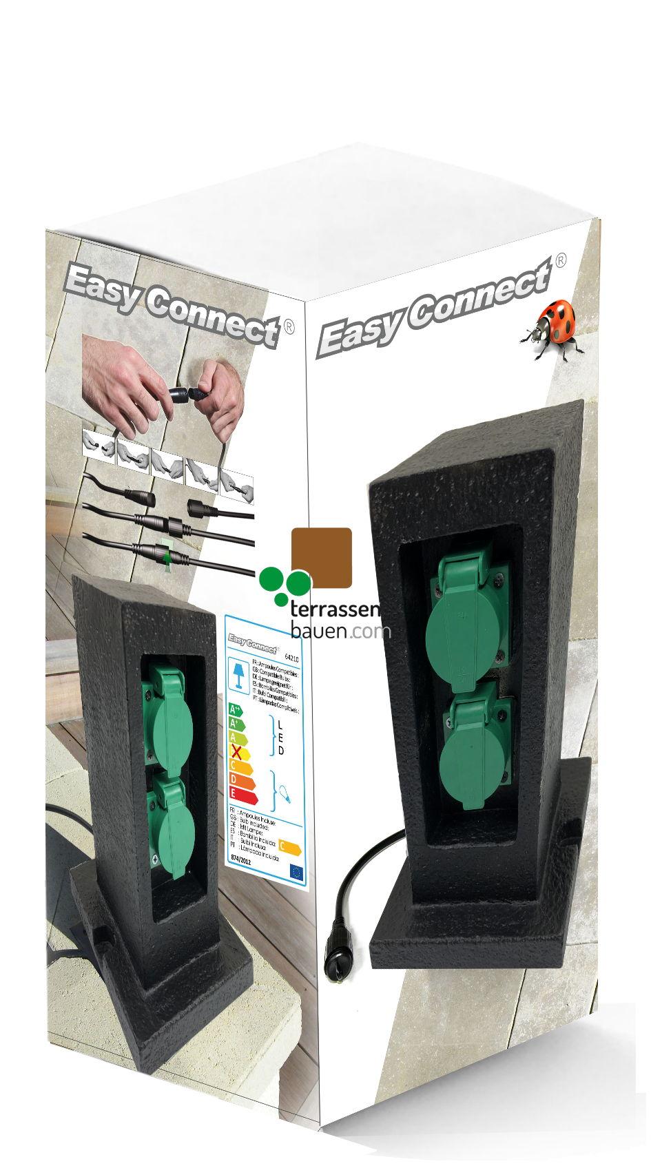 EasyConnect Doppelsteckdose Schuko (EU) Turm, 230VAC