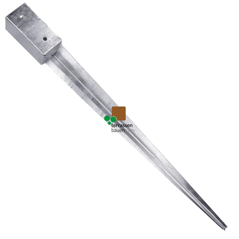 TBcom Einschlagbodenhülse 91mm, verschiedene Längen