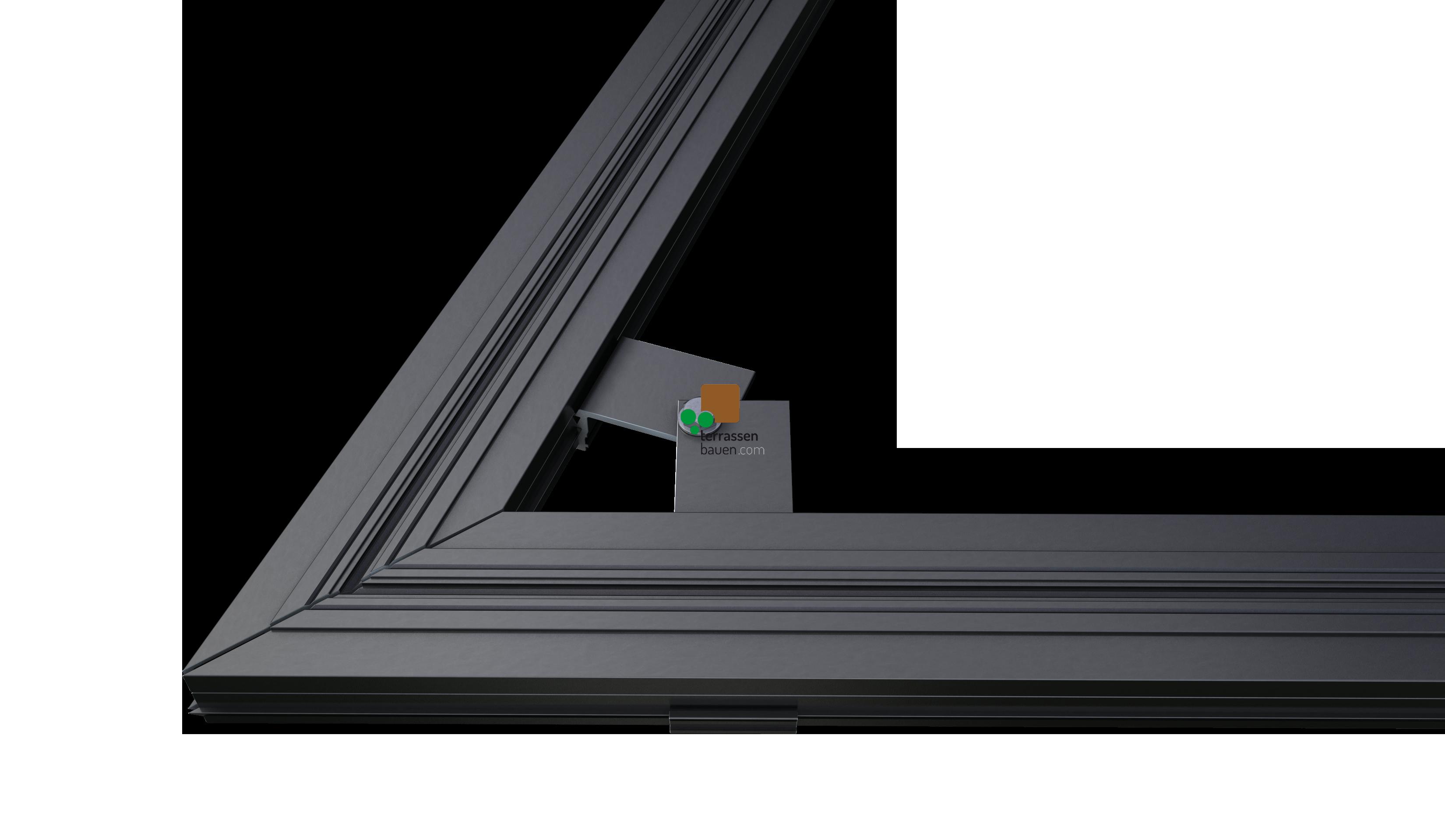 K&R Terracon variabler Eckerverbinder für Isostep TWIXT, BIG und H