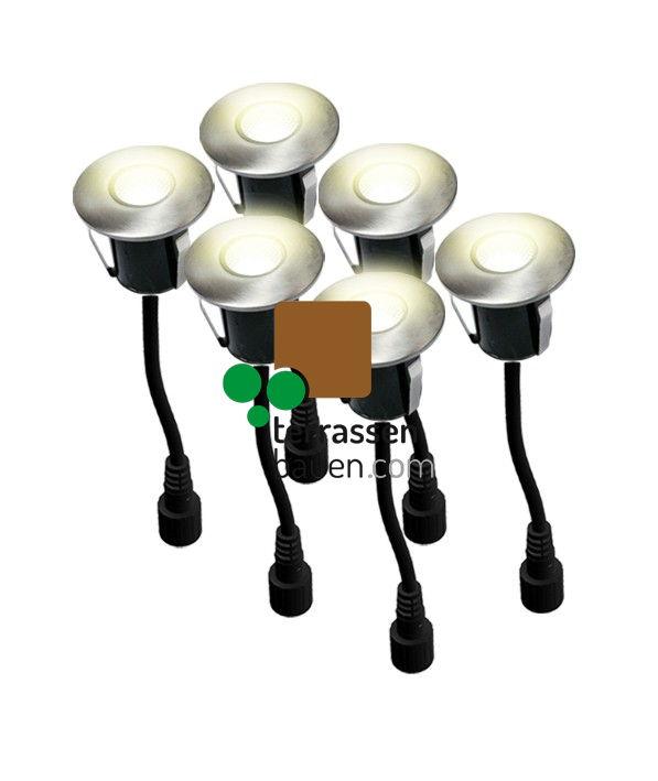 EasyConnect LED Mini-Einbauleuchten ø 45mm, 230VAC, 6 Stück, warm-weiss