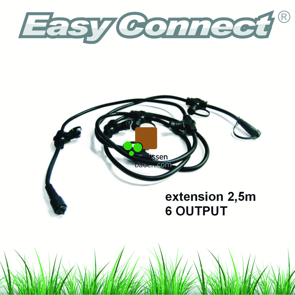 EasyConnect Kabelpeitsche, 1* Eingang 6* Ausgang,  2,8m, 1 Stück